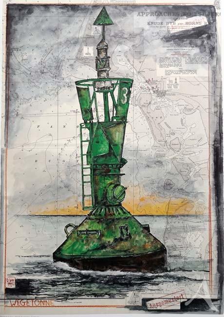 """Kunstdruck """"Wegetonne 37"""""""