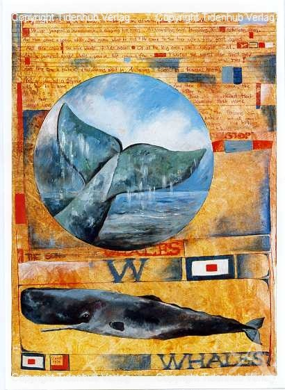 "Kunstdruck ""Song of the whales"""