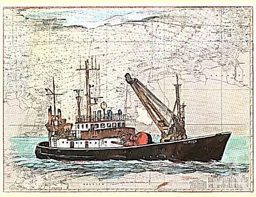"Kunstdruck ""Tonnenleger Norden"""