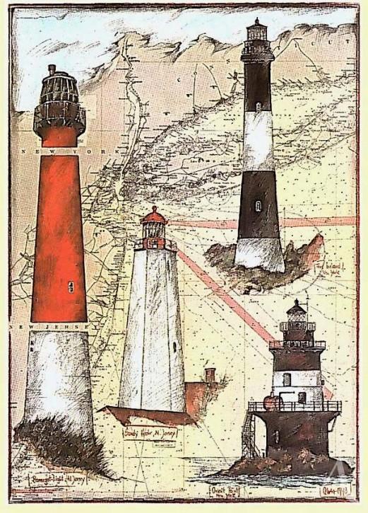 """Kunstdruck """"New Jersey Lighthouse"""""""
