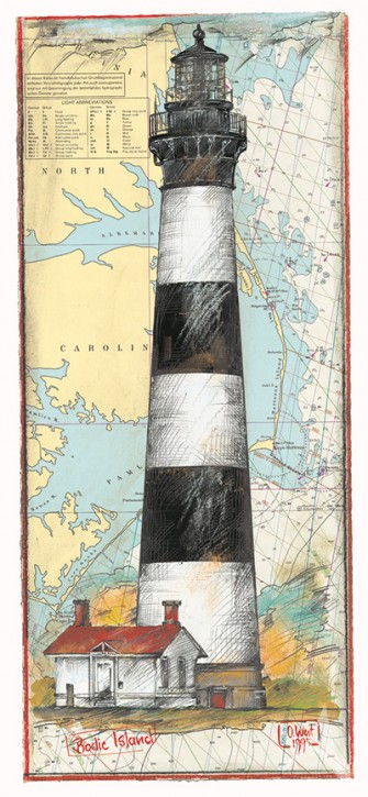 """Kunstdruck """"Bodie Island"""""""
