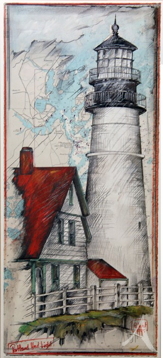 "Kunstdruck ""Portland Headlight"""