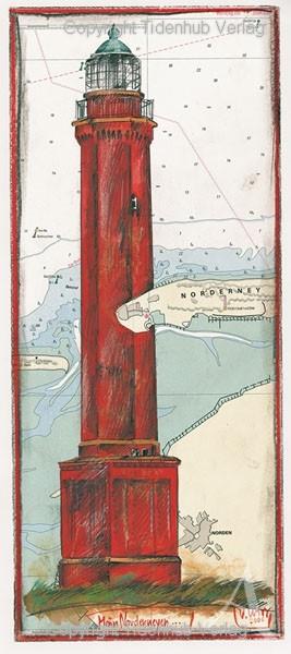 """Kunstdruck """"Norderney"""" von OLE WEST - gerahmt"""
