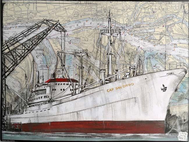 """Kunstdruck """"Cap San Diego"""""""
