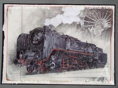 """Kunstdruck """"Lok 45011"""""""