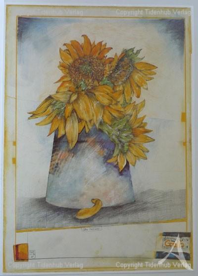 """Kunstdruck """"Gelbe Zeichnerei"""""""