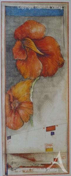 """Kunstdruck """"Orange - Rot"""""""