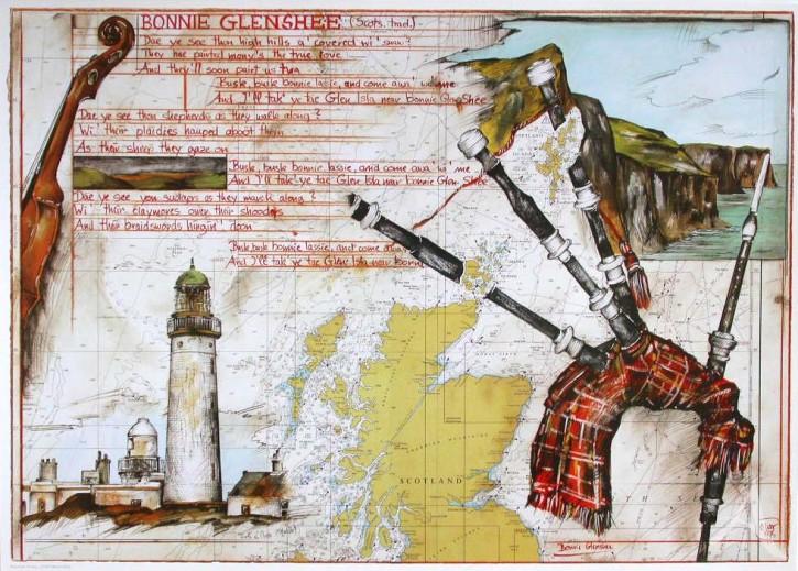 """Kunstdruck """"Schottland - Bonnie Glenshee"""""""