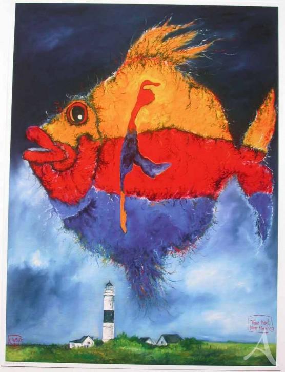 "Kunstdruck ""Rüm Hart Klaar Kimming"" (Fisch / Sylt)"