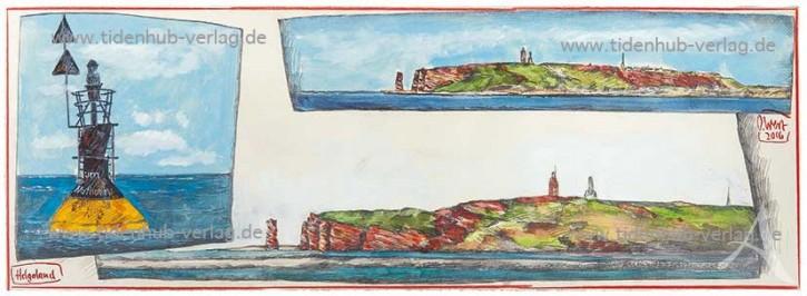 "Gerahmter Kunstdruck ""Helgoland"" mit Schattenfuge"