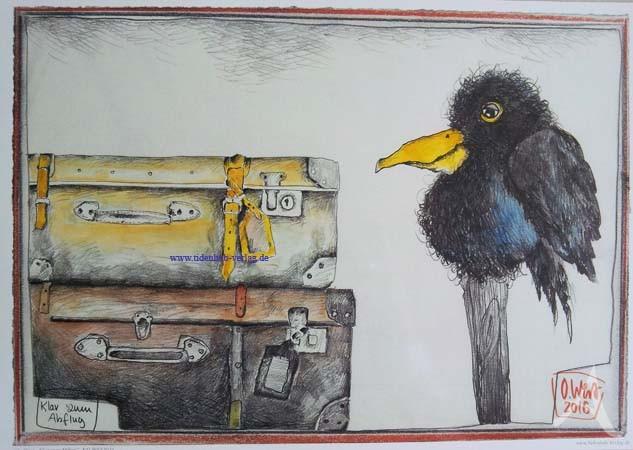"""Kunstdruck """"Klar zum Abflug"""" von OLE WEST."""