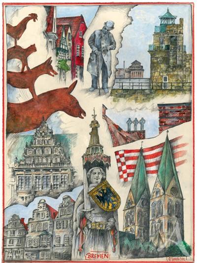 """Kunstdruck """"Bremen"""" von Ole West - neues Format!"""