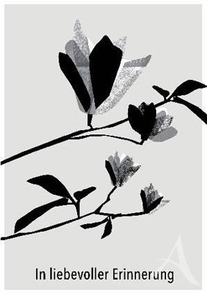 """Trauerkarte """"In liebevoller Erinnerung"""""""