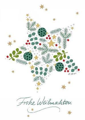 """Doppelkarte """"Frohe Weihnachten"""""""