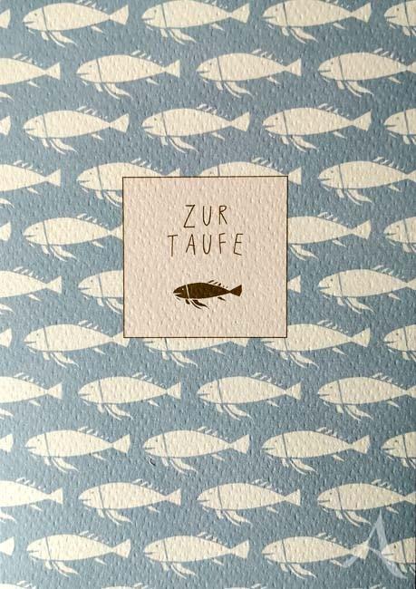 """Doppelkarte """"Zur Taufe"""""""