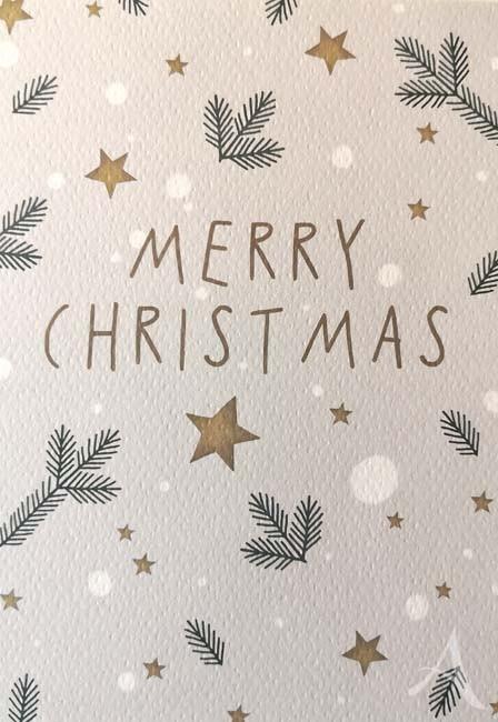 """Doppelkarte """"Merry Christmas"""""""
