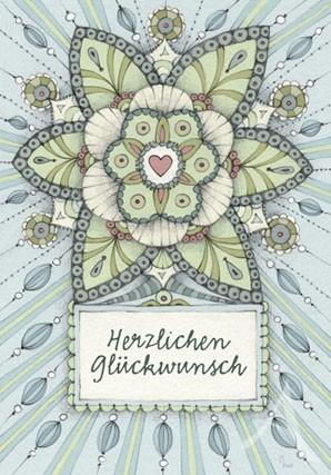 """Doppelkarte """"Herzlichen Glückwunsch"""""""
