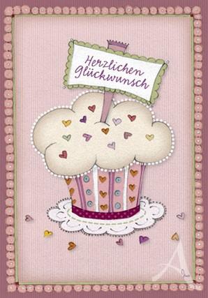 "Doppelkarte ""Cup Cake"""