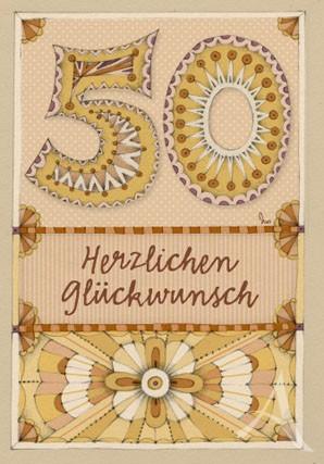 """Doppelkarte """"50 - Herzlichen Glückwunsch"""""""