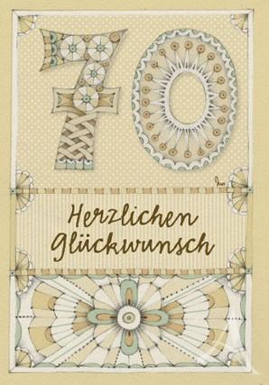 """Doppelkarte """"70 - Herzlichen Glückwunsch"""""""