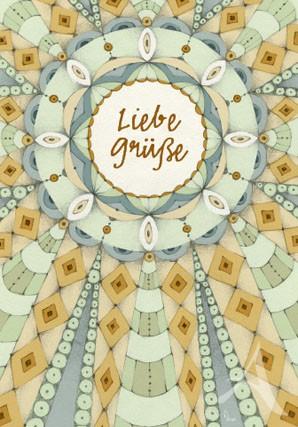 "Doppelkarte ""Liebe Grüße (Ornament)"""