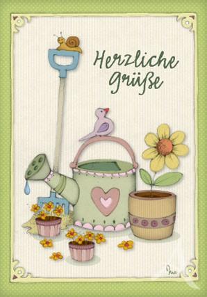 """Doppelkarte """"Herzliche Grüße"""""""