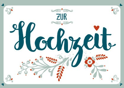 """Doppelkarte """"Zur Hochzeit"""""""