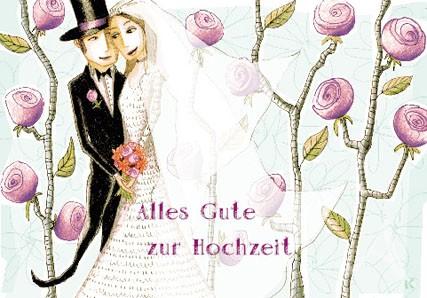 """Doppelkarte """"Alles Gute zur Hochzeit"""""""
