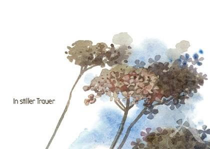 """Doppelkarte """"In stiller Trauer"""""""