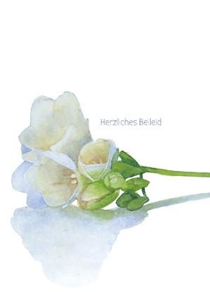 """Trauerkarte """"Herzliches Beileid"""""""