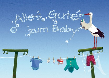 "Doppelkarte ""Alles Gute zum Baby"""