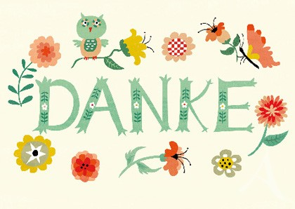 "Doppelkarte ""Danke"" -- NUR NOCH WENIGE EXEMPLARE !"