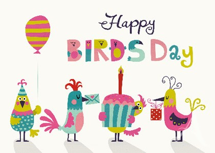 "Doppelkarte ""Happy BIRDSday"""