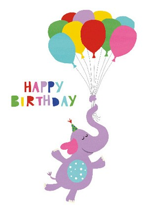 "Doppelkarte ""Happy Birthday (Elefant)"""