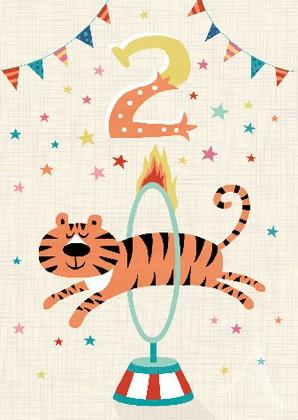 "Doppelkarte ""2  (Tiger)"""