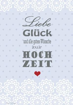 """Doppelkarte """"...alle guten Wünsche zur Hochzeit"""""""