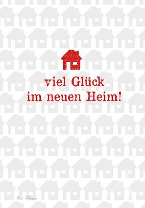 """Doppelkarte """"Viel Glück im neuen Heim!"""""""