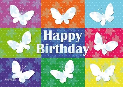 """Doppelkarte """"Happy Birthday"""""""
