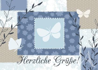 """Doppelkarte """"Herzliche Grüße!"""""""