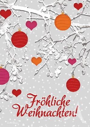 """Doppelkarte """"Fröhliche Weihnachten!"""""""