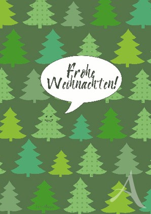 """Doppelkarte """"Frohe Weihnachten!"""""""