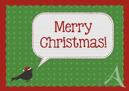 """Doppelkarte """"Merry Christmas!"""""""
