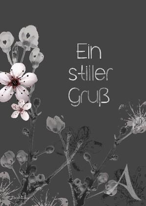 """Doppelkarte """"Ein stiller Gruß (Blume)"""""""