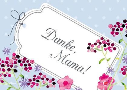"Doppelkarte ""Danke, Mama!"""