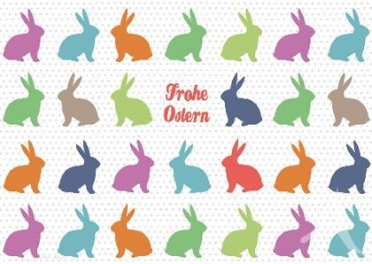 """Doppelkarte """"Frohe Ostern"""""""