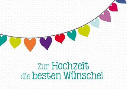 """Doppelkarte """"Zur Hochzeit die besten Wünsche"""""""