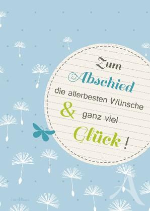 """Doppelkarte """"Zum Abschied die allerbesten Wünsche..."""""""