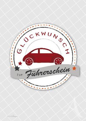 """Doppelkarte """"Glückwunsch zum Führerschein"""""""