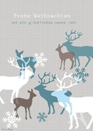 """Doppelkarte """"Frohe Weihnachten und ein glückliches neues Jahr"""""""