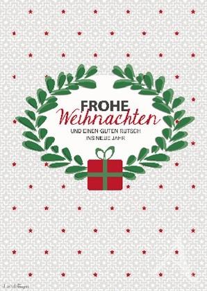 """Doppelkarte """"Frohe Weihnachten und einen guten Rutsch ins neue Jahr"""""""